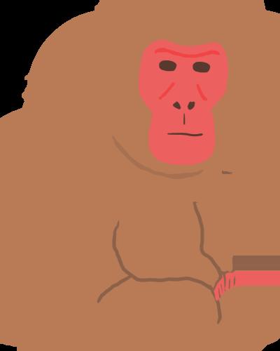 猿のイラスト かわいいフリーイラスト集 エガコ